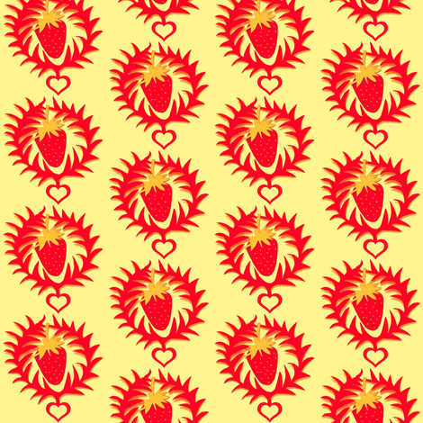 Celebrate the Strawberry fabric by boris_thumbkin on Spoonflower - custom fabric