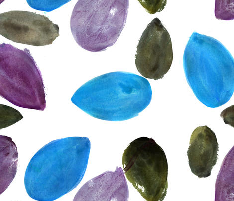 cestlaviv_tropicana seed purpleblue fabric by cest_la_viv on Spoonflower - custom fabric