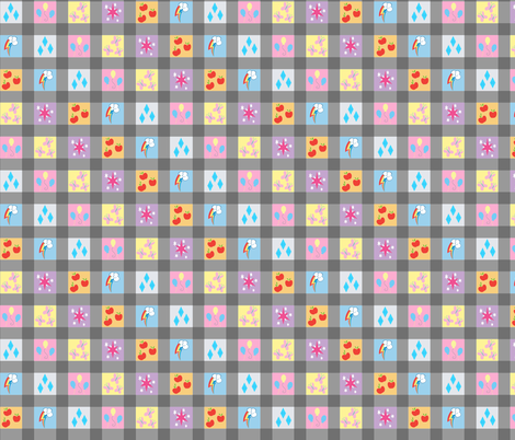 Cutie Plaid fabric by cindersonfiber on Spoonflower - custom fabric