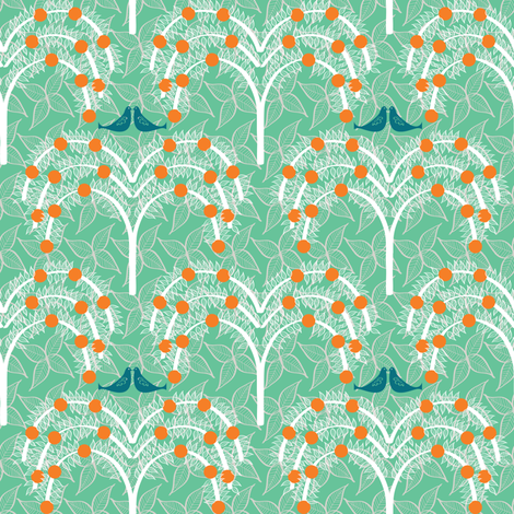 Orange Grove fabric by sary on Spoonflower - custom fabric