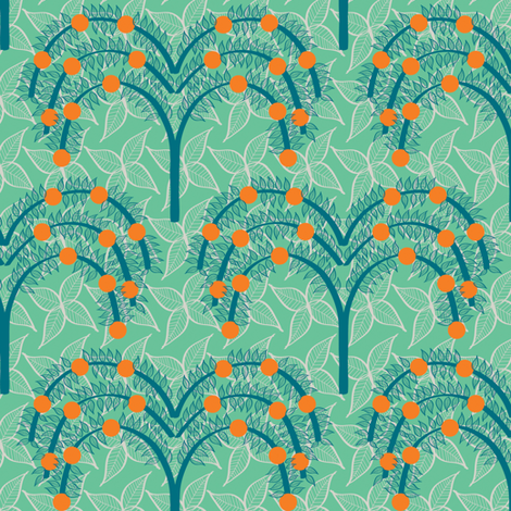 Orange Grove 1 fabric by sary on Spoonflower - custom fabric