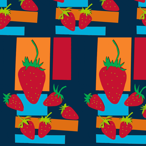 Strawberries fabric by boris_thumbkin on Spoonflower - custom fabric