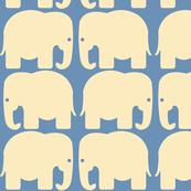 Cream Elephants Silhouette