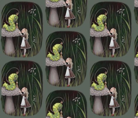 Wonderland Whooooo Are Youuuuu? fabric by castleonthehill on Spoonflower - custom fabric