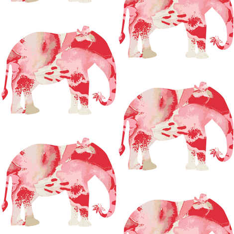 Lily Elephant fabric by karenharveycox on Spoonflower - custom fabric