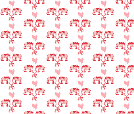 Lily Elephant's baby with pink balloons fabric by karenharveycox on Spoonflower - custom fabric