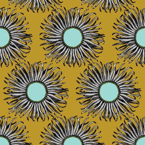 Creature Power Gold fabric by brainsarepretty on Spoonflower - custom fabric
