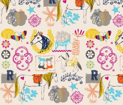 Ramonas_Horses fabric by nicky_ovitt on Spoonflower - custom fabric