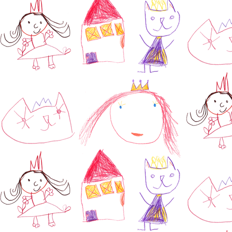 Princess Cats fabric by anda on Spoonflower - custom fabric