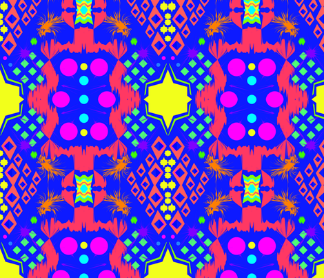 TRIBAL FLUO fabric by maruqui on Spoonflower - custom fabric