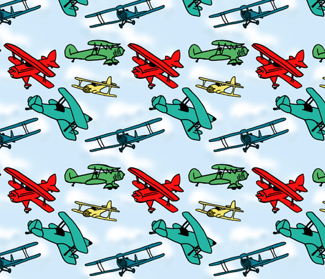 Aviation_Fabric fabric by trishadstudio on Spoonflower - custom fabric