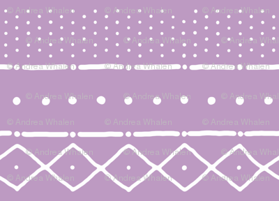 Mudcloth II (Petite) in white on warm violet