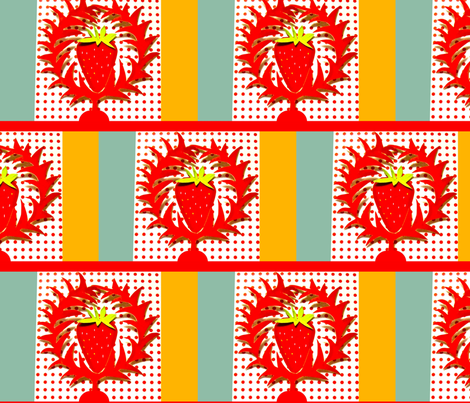 Giant Cut-Paper Strawberry Wreaths fabric by boris_thumbkin on Spoonflower - custom fabric