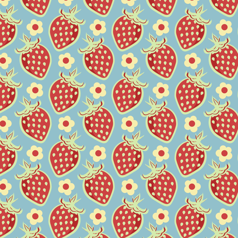 Pastel Country Berries fabric by eppiepeppercorn on Spoonflower - custom fabric
