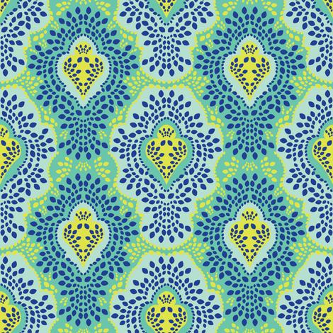 Riviera Breeze Damask fabric by robyriker on Spoonflower - custom fabric