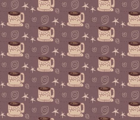 Star Coffee Mugs fabric by arttreedesigns on Spoonflower - custom fabric