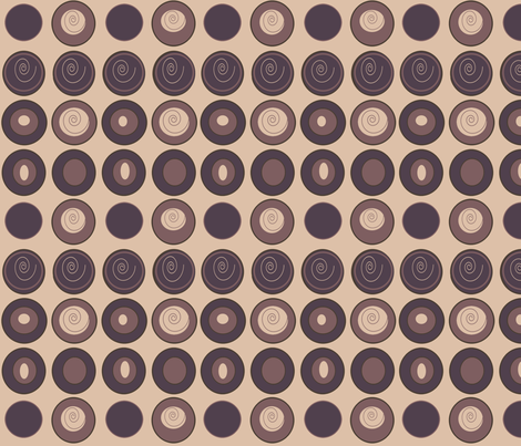 Coffee Beans & Cream fabric by arttreedesigns on Spoonflower - custom fabric