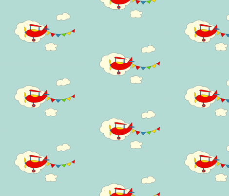Lets Fly Away fabric by anikabee on Spoonflower - custom fabric
