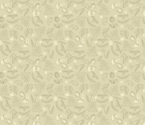 Herbs seamless pattern fabric by anastasiia-ku on Spoonflower - custom fabric