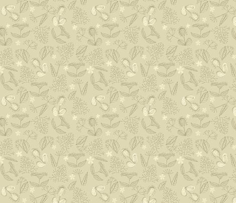 Herbs seamless pattern fabric by anastasiia-ku on Spoonflower - custom fabric