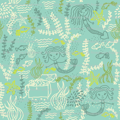 cute mermaids pattern