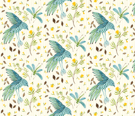Frolic Natural - Frolic Collection fabric by gollybard on Spoonflower - custom fabric