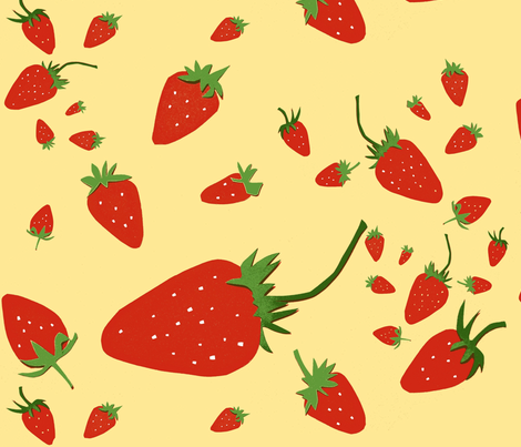 Giant Strawberries fabric by boris_thumbkin on Spoonflower - custom fabric