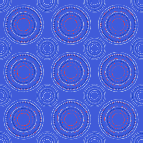 Mandala or Dancing Dervish circles on blue fabric by su_g on Spoonflower - custom fabric