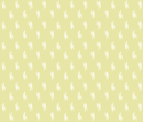 Meadow stalks in pale lime fabric by jennyf on Spoonflower - custom fabric