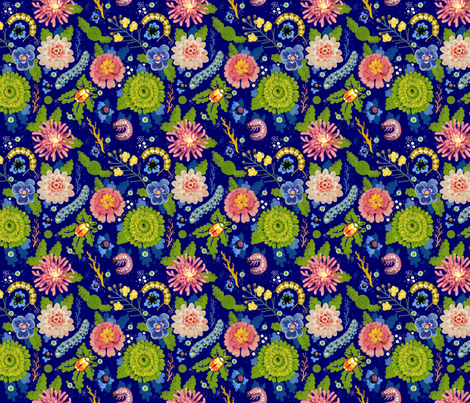 Blue Garden fabric by chad_grohman on Spoonflower - custom fabric