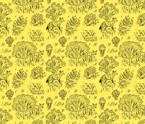 Woodlands fabric by chad_grohman on Spoonflower - custom fabric