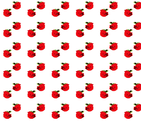 Red Roses  For you and Me Fabric on July 12, 2012 fabric by _vandecraats on Spoonflower - custom fabric