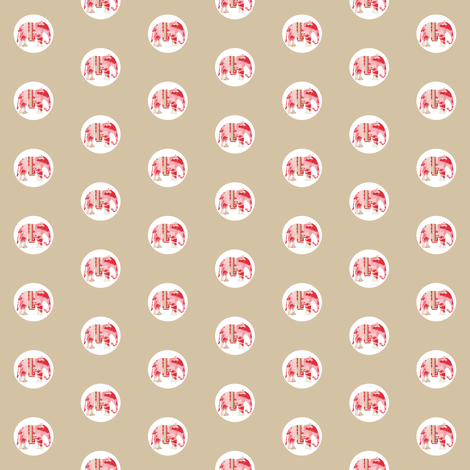 Lily Elephant Polka Dots fabric by karenharveycox on Spoonflower - custom fabric