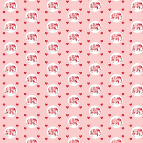 Lily Elephant polka dots and hearts