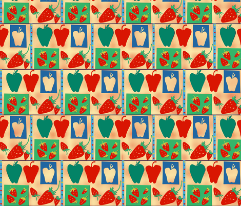 Apples & Strawberries fabric by boris_thumbkin on Spoonflower - custom fabric