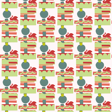 Small Swan Lake fabric by boris_thumbkin on Spoonflower - custom fabric