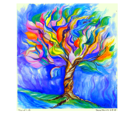 Tree of Life Watercolor_Fat Quarter