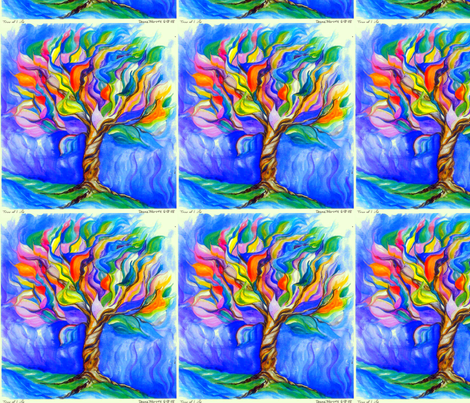 Tree of Life Watercolor_Fat Quarter-ed fabric by tree_of_life on Spoonflower - custom fabric