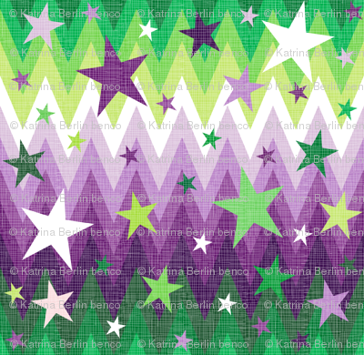 Maddox's Christmas Stars Purple + Green