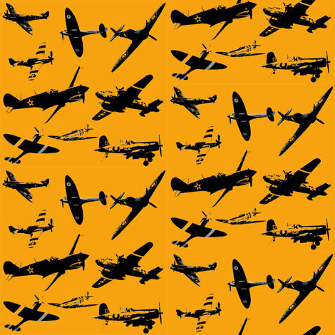 Retro Aviator Sunrise fabric by smuk on Spoonflower - custom fabric