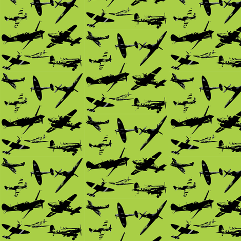 Retro Aviator Lemon Lime and Bitters fabric by smuk on Spoonflower - custom fabric