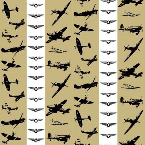 Retro Aviator Stone Stripe fabric by smuk on Spoonflower - custom fabric