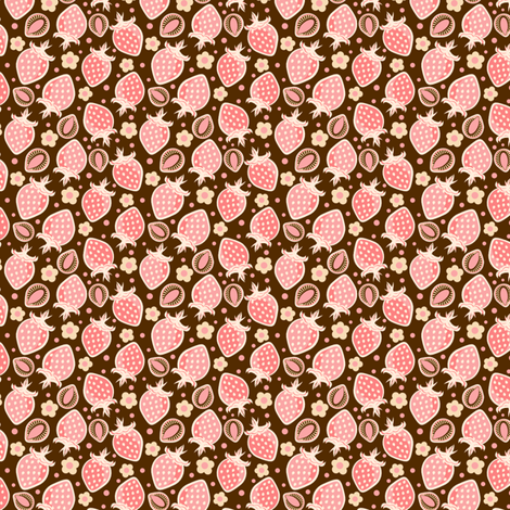 Choco Berry fabric by eppiepeppercorn on Spoonflower - custom fabric