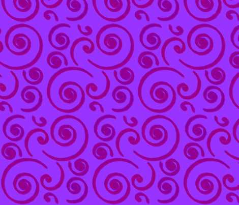 PurpleSurf fabric by stickelberry on Spoonflower - custom fabric