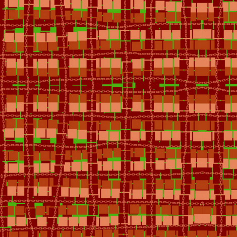 red wobbly check fabric by sherenanz on Spoonflower - custom fabric