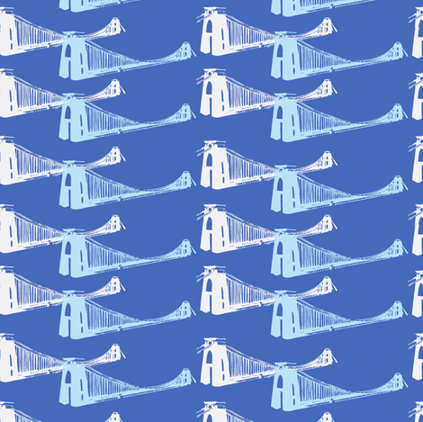 Clifton-Bridge-print-ch w/light blue fabric by madamsalami on Spoonflower - custom fabric