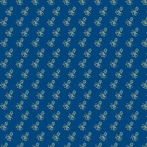 Anchor-print-ch. lemon on navy blue-ch