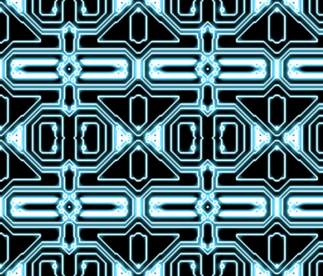 ELECTron - Blue / Black - Mirrored fabric by bonnie_phantasm on Spoonflower - custom fabric