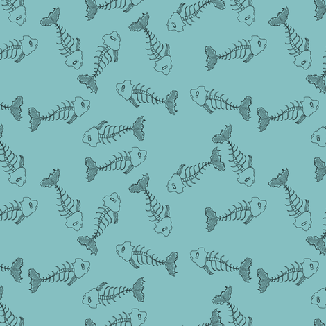 Fish-skeleton-on-aqua