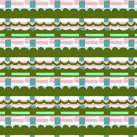 Waves Plaid fabric by boris_thumbkin on Spoonflower - custom fabric